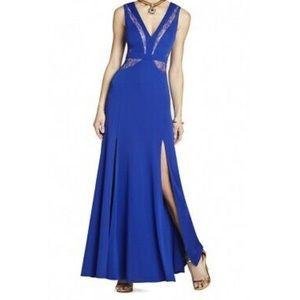 BCBGMAXAZARIA Long Royal Blue Dress Size 8